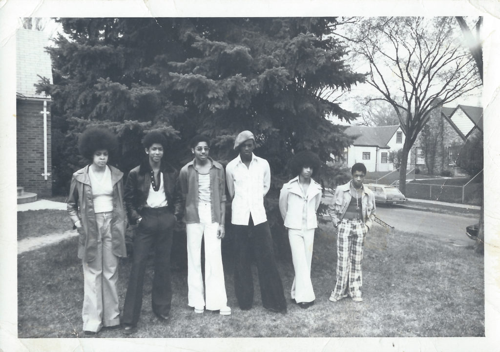Grand Central's Linda Anderson, André Anderson, Morris Day, Terry Jackson, Prince, and William Doughty / Photo by Charles Chamblis